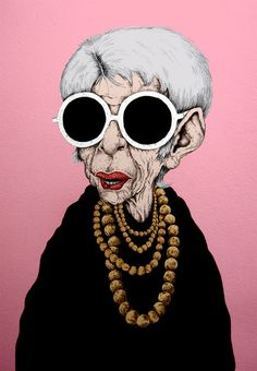 baldurhelgason: Iris Apfel is Iconic. When then Caricature you its a done deal!! Can't wait to know more on her.