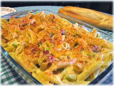 Recetas Originales: Gratén de pasta con crema de jamón y calabacín