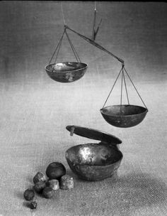Bronze Scales; Weight dish; Weights. Viking. Norway, Vestfold, Larvik, Dolven vestre.