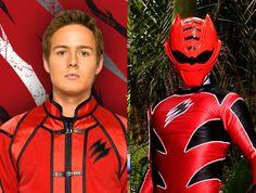 Power Rangers Jungle Fury REd Rangers Spirit animal, the Tiger; Shark and Gorilla