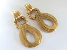3-WAY Authentic YSL Yves Saint Laurent Oversized Vintage Hoop Earrings  #vintageYSL #vintageYSLearrings #vintageYvesSaintLaurentearrings #YvesSaintLaurentearrings #vintageYSLGripoix #vintageYSLGripoixearrings #vintageYvesSaintLaurentGripoixearrings #YvesSaintLaurentGripoixearrings #Gripoixearrings #GripoixParisearrings #RobertGoossens #GoossensEarrings #GoossensJewelry #GoossensParis