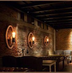 Bathroom Furniture For An Rv Rustic Restaurant Interior, Bar Restaurant Design, Architecture Restaurant, Pub Interior, Bar Interior Design, Restaurant Lighting, Industrial Restaurant Design, Cafe Lighting, Speakeasy Decor