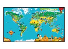 Tag™ Mapamundi Interactivo (World Map) SPANISH