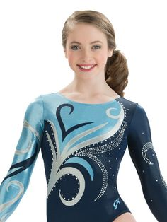 Swirl Rush Competition Leotard from GK Elite Gymnastics Suits, Gymnastics Competition Leotards, Kids Gymnastics, Girls Gymnastics Leotards, Gk Leotards, Ice Skating Dresses, Couture, Valentino, Acro