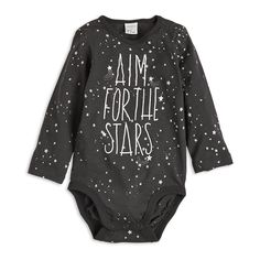 A soft bodysuit with a dreamy pattern and print just like the starry sky.