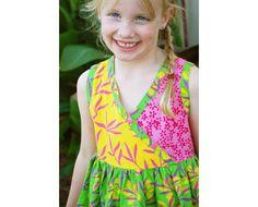 Vestido de verano niña Floral niña vestido de por PelangiDesign