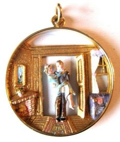 Hard to Find Charm These Days Genuine Vintage 9ct Gold Cat Charm with Enameled Bow