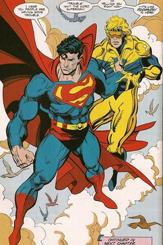 Superman & Booster Gold by Dan Jurgens & Rick Burchett Dc Comics Characters, Dc Comics Art, Marvel Dc Comics, Cosmic Comics, Comic Book Artists, Comic Artist, Comic Books Art, Superman And Lois Lane, Superman Family