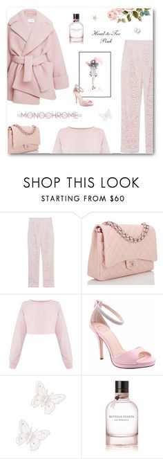 """Head-to-Toe Pink"" by paradiselemonade ❤ liked on Polyvore featuring SLY 010, Chanel, I. MILLER, MARBELLA and Bottega Veneta"