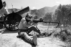 Miliciano en la batalla del Ebro
