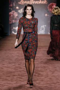 "AW 16/17 ""The Brits"" Runway  ""Downton Dress, winter rose"""