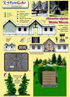 PAPERMAU: Monte Mezza Alpine Church Paper Model - by Forbicolla