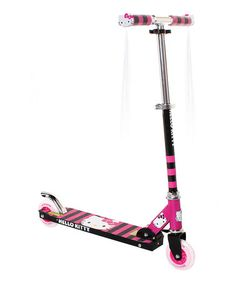 Love this Black & Fuchsia Hello Kitty Folding Scooter by Hello Kitty on #zulily! #zulilyfinds