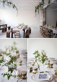 Jasmine wreaths - wonder whether anyone has Jasmine in their garden? Space Wedding, Our Wedding, Jasmine Plant, Jasmine Vine, Floral Wedding, Wedding Flowers, Table Garland, Minimal Wedding, Deco Floral