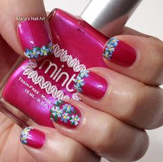 Marias Nail Art and Polish Blog: Flowers for dirty Shirley