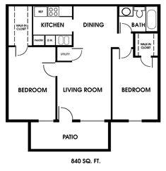 tiny house single floor plans 2 bedrooms | apartment photos see floor plans one bedroom apartments two bedroom ...