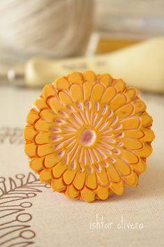 handcarved stamp Japanese flower ♥ flor japonesa by ishtar olivera belart