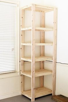 HowTo Build Tall Garage Storage Shelves