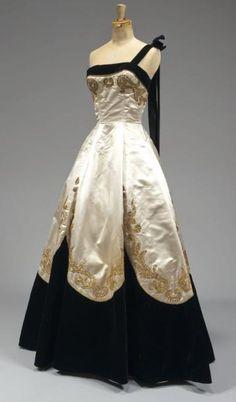 Evening gown, Emilio Schuberth, Roma, circa 1950.