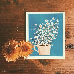 """906 Likes, 5 Comments - E l i s a (@press_liz) on Instagram: """"Polaroid with my little bloom Illustration  Ich wünsche euch einen gemütlichen Abend ihr Lieben!…"""""""