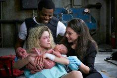 Orphan Black Helena birth twins  Arthur Donnie