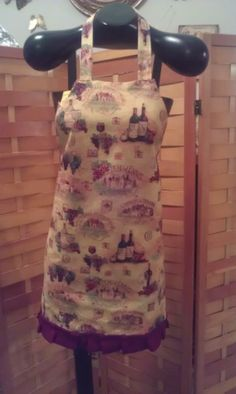 Wine Country Apron made by Fried Green Aprons