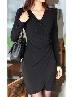 Long Sleeved Knit Dress