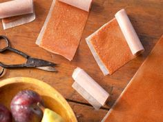 Get Pear and Plum Fruit Leather Rollups Recipe from Food Network