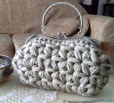 andrea croche: bolsa de croche com fio de malha