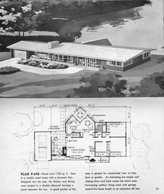 Mid Century Modern Home Plans mid century modern house plans | mid century modern ranch - the