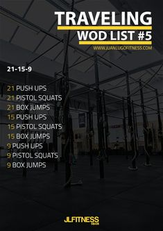 Here's a Travel WOD that requires only a box or platform for the box jumps. #fatlossworkouts #totalbodyworkouts #crossfit #travelwod
