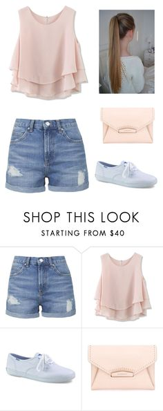 """""""Untitled #136"""" by jessicagaxiola on Polyvore featuring Topshop, Chicwish, Keds and Givenchy"""