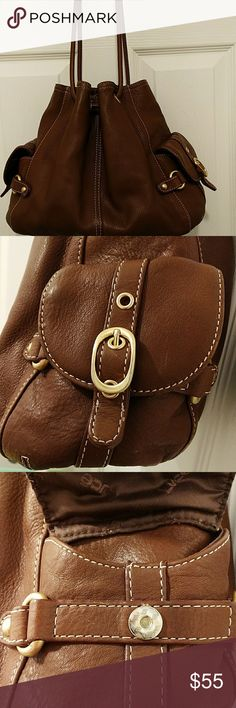 """LUCE shoulder bag genuine leather Like new, excellent condition ,mane closure magnetic ,1 zip ppacket and pouches inside and 2 pockets a side with magnetic clousur no steans, L13"""" H10"""" LUCE Bags Shoulder Bags"""