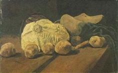 Still Life with Cabbage and Clogs - Vincent van Gogh