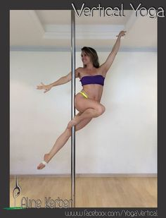 "Pole Picture of the Day: Aline K. in the ""DAKINI."" Vertical Yoga - Move Creation Technique. #BKPPOD #BadKittyPride"