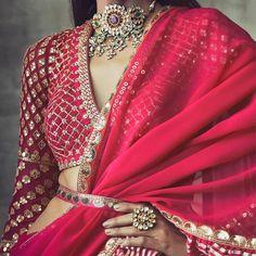 wedding budget Hot pink and lavender silk lehenga bridal lehenga trendy dupatta indian wear lehenga Indian Wedding Outfits, Bridal Outfits, Indian Outfits, Indian Clothes, Lehenga Designs, Saree Blouse Designs, Dress Designs, Indian Designer Outfits, Designer Dresses