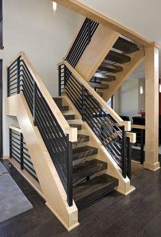 Хай-тек лестница для помещения в современном стиле.