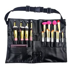c0ad0a6f0ce 11.99 Hotrose Latest Design 27 Pockets Professional Cosmetic Makeup Brush  Bag with Artist Belt Strap