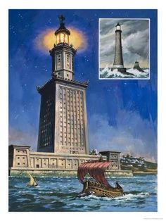 The Historical Lighthouse Of Alexandria Ancient Egypt