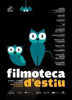 Cartel Filmoteca d'Estiu 2016 openluchtbios in de Turia.