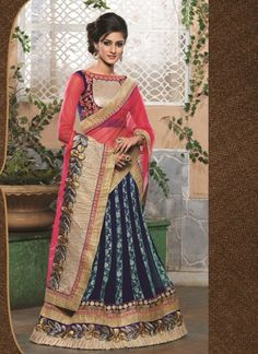 http://www.sareesaga.com/index.php?route=product/product&product_id=20138 Work	:	Embroidered Patch Border Work Resham Work	 Style	:	A - Line Lehenga Shipping Time	:	10 to 12 Days	 Occasion	:	Wedding Bridal Ceremonial Fabric	:	Net Viscose	 Colour	:	Blue For Inquiry Or Any Query Related To Product,  Contact :- +91 9825192886