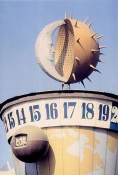 Disneyland's Clock of the World in Tomorrowland, 1955 to 1966
