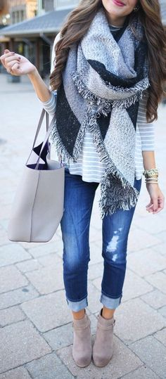 blanket scarf to finish off the perfect fall outfit
