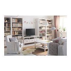 IKEA - HEMNES, TV bench, white stain,