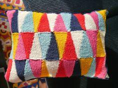 Sarita creative: Harlequin Crocheted Cushion
