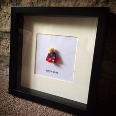Lego mini figure SUPER WOMAN / MUM personalised gift frame by ArtsItsyBitsy on Etsy