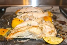 Lemon & Garlic Roasted Chicken Breast  #RealFoodPledge