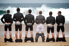 funny wedding pictures of the groom and his best man in their boxers