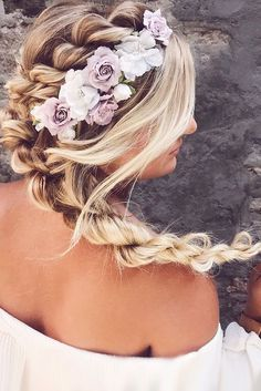 30 Ideas For Wedding Hairstyle Inspiration ❤ wedding hairstyle inspiration boho inspired braids brooke klay ❤ See more: http://www.weddingforward.com/wedding-hairstyle-inspiration/ #wedding #bride #weddinghairstyles #hairstyleinspiration #hairstyles