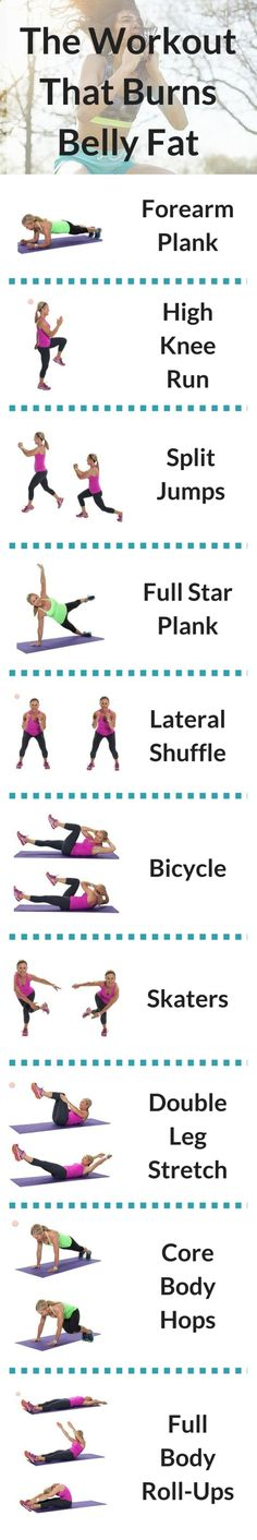 Beyond the vanity of it all, it's important to get rid of belly fat for a healthier you. Thus, this workout that burns belly fat was born! by kendra